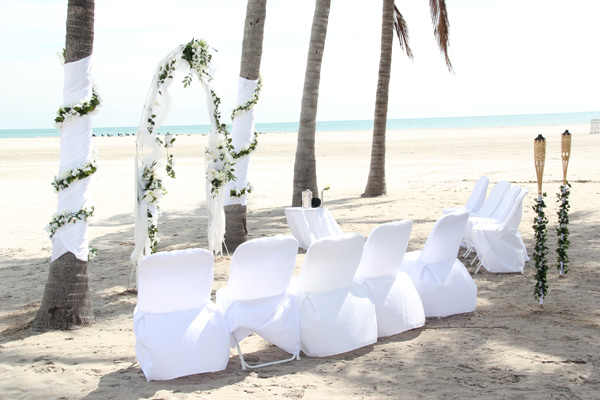 arches and decor - intimate miami beach weddings - small
